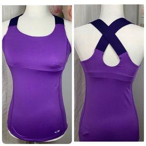 CHAMPION women's Cross back purple Sz XS